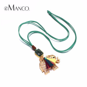 Animal Elephant Long Necklaces for Women