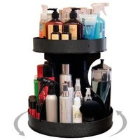 "Divas and Professional Stylists will Love This 15"" base Spinning Cosmetic Organizer! 2"" High Sides & Center Dividers Keep Product in Place. Proudly Made in the USA!!! by PPM."