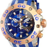 Invicta Subaqua Rose Gold-Tone Blue Dial Chronograph Mens Watch 0910