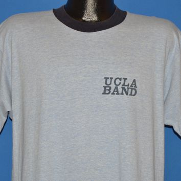 80s UCLA Band Heathered Ringer Rayon t-shirt Extra Large