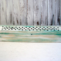 Patina Distressed Incense Burner, Incense Coffin, Incense Box, Light Green Wooden Box, Shabby Chic Wooden Box, Gift Ideas
