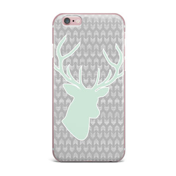 "Pellerina Design ""Winter Deer"" Gray Green iPhone Case"