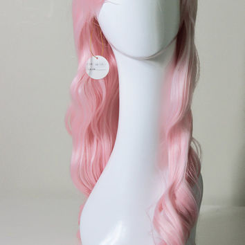 Pastel Pink Cosplay Wig: 27 inches and Heat Resistant