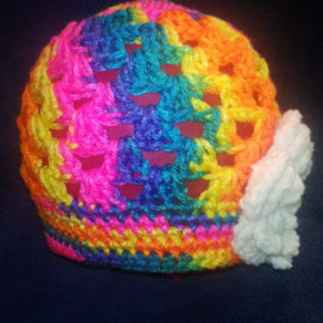 Made to order, You pick Colors, All sizes  crochet Spring beanie with flower, crochet hat