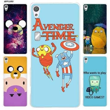 BiNFUL Adventure Time 2 Clear Cover Case for Sony Xperia XA XA1 X XZ Z5 Z1 Z2 Z3 M4 Aqua M5 E4 E5 C4 C5 Compact Premium