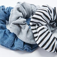 Denim Scrunchie 3 Pack - Urban Outfitters