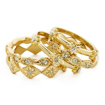 The Revel Starburst Ring Set