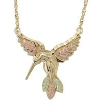10k Gold Hummingbird Necklace