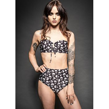 Rock Brigade Skull High Waist Two Piece Swimsuit