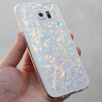 Holographic Hologram Flake Samsung Galaxy S5/S6/S7 edge Note 5/7 J7 On5 Case