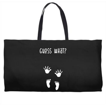 Guess What Baby Inside Pregnancy Announcement Weekender Totes