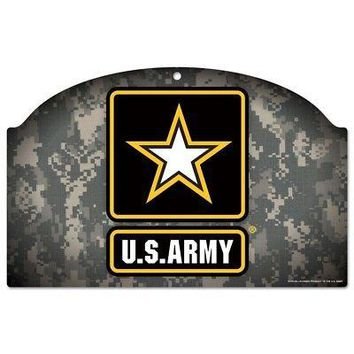 Licensed Army Official Military Wood Sign by Wincraft 595075 KO_19_1