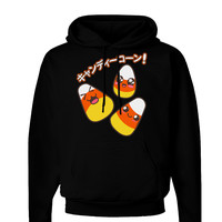Japanese Kawaii Candy Corn Halloween Dark Hoodie Sweatshirt