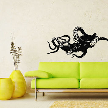 Octopus Tentacles Decal Wall Decals - Wall Vinyl Decal Sticker - Interior Home Decor Vinyl Art - Wall Decor Bedroom Living Room SV5326
