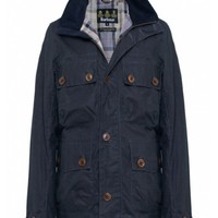 Barbour Grey Waxed Greymare Jacket