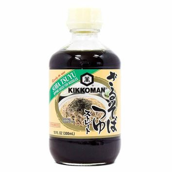 Kikkoman Soba Tsuyu Dipping Sauce for Noodles, 10 oz (300 ml)