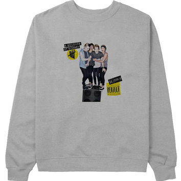 5 sos perfect sweater Gray Sweatshirt Crewneck Men or Women for Unisex Size with variant colour