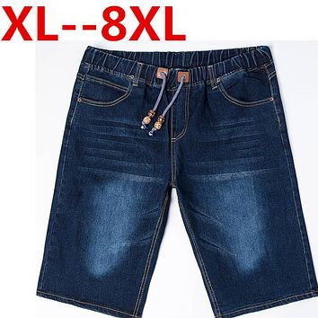 PLUS SIZE 9XL 8XL 7XL 6XL 5XL 4XL mens short jeans brand clothing bermuda summer shorts thin breathable denim shorts male Big