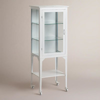 Large White Giselle Cabinet - World Market