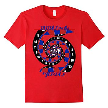 Abstract Dart Players Diddle For Middle t-shirt