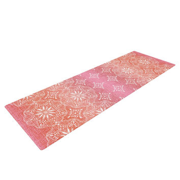 "Suzie Tremel ""Medallion Red Ombre"" Pink Yoga Mat"