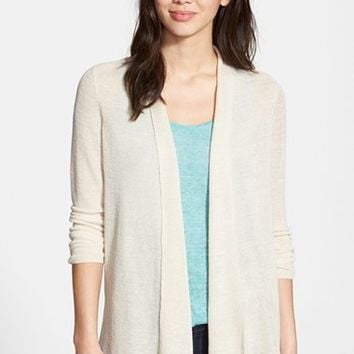 Women's NIC+ZOE 'At Ease' Linen Blend Open Front Cardigan,