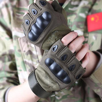 Mens military tactical gloves outdoor cover half finger army gloves antiskid gym sports microfiber bicycle sports gloves