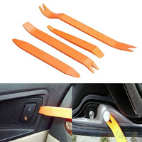 4pcs Auto Car Radio Door Clip Panel Trim Dash Audio Removal Installer Pry Tool (Size: One Size, Color: Orange)