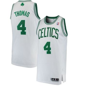 Men's Boston Celtics Isaiah Thomas adidas White Home Finished Authentic Jersey