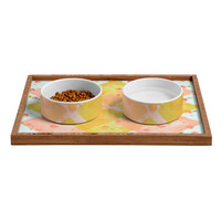 Hello Twiggs Spring Flowers Pet Bowl and Tray