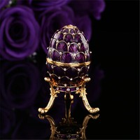 QIFU beautiful purple faberge egg for home improvement