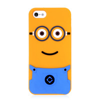 Minion Cartoon Silicone Back Cover For iPhone 5 & 5s