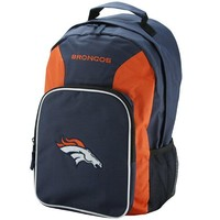 Denver Broncos Navy Blue-Orange Southpaw Backpack