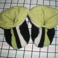 Cashmere slippers PEAPOD baby booties double thick 3-9 months