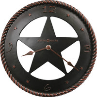 0-006319>Maverick Wall Clock Aged Bronze
