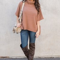 Luther Sweater Poncho (Burnt Orange)