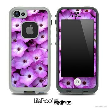 Purple Flowers Skin for the iPhone 5 or 4/4s LifeProof Case