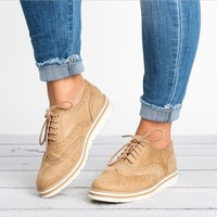 2018 New EVA Brogue Shoes Woman Platform Oxfords British Style Creepers Cut-Outs Flat Casual Women Shoes 5 Colors XWD6990