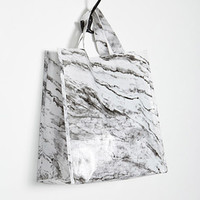 Marble Print Shopper Tote