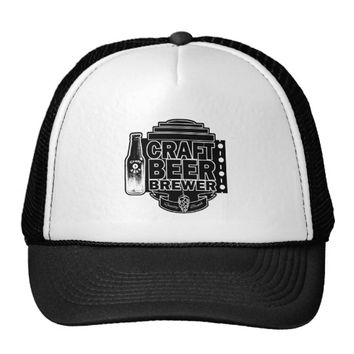 Craft Beer Brewer - Black & White Logo Trucker Hat
