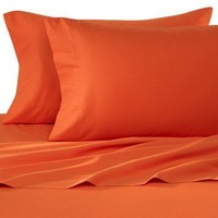 Elegant Comfort 1500 Thread Count Egyptian Quality Super Soft Wrinkle Free 4-Piece Sheet Set, Queen, Orange