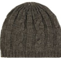 Sakkas EH190NB - Cable Knitted Solid Color Fashion Winter Beanie / Cap / Hat - Grey/One Size