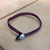Warrior Looking Choker   Black & Pink (Urban Outfitters)