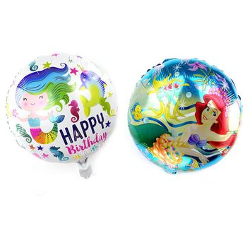 new 10pcs/lot 18inch little Mermaid Foil Balloons Kids girls Toys ballons for Birthday Party Hawaii baby shower party Supplies