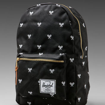 Herschel Supply Co. Invitational Collection Settlement Plus Cordura Backpack in Black/White Embroidery from REVOLVEclothing.com
