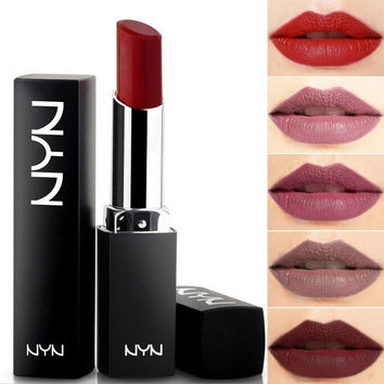 Moisturizer Waterproof Lipstick Long Lasting Matte Velvet Nude Lip Gloss for Women's Makeup -10 Colors