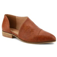 Carter-05 Women D'orsay Slip On Pointy Cap Toe Extreme Cut Out Ankle Flat Bootie Cognac - Walmart.com
