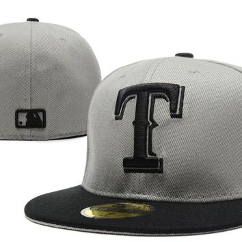 Texas Rangers New Era 59FIFTY MLB Cap Grey-Black