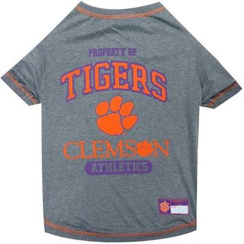 VONEYW9 Clemson Tigers Pet T-Shirt