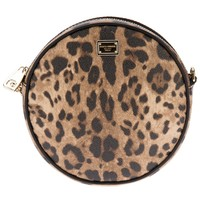 Dolce & Gabbana Leopard Print Round Shoulder Bag - Julian Fashion - Farfetch.com